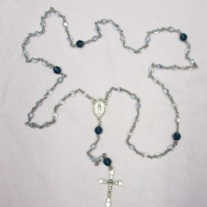 Swarovski Crystal Sterling Rosary.